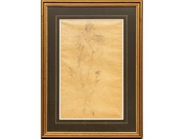 LOUIS ICAR ORIGINAL ONE OF A KIND PENCIL DRAWING ON PAPER HAND SIGNED FR... - $3,595.50