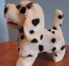 Vintage Leash control dalmation walks,barks Plush Dog  Collar Stuffed Animal Toy - $24.75