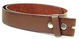 "WN333 - 1.5"" WIDE DARK BROWN SOFT SPLIT LEATHER BELT STRAP WITH SNAP CLO... - $12.00"