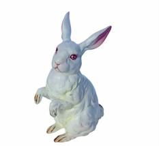 Bunny Rabbit Hare Figurine vtg Easter decor gift Lefton anthropomorphic ... - $28.98