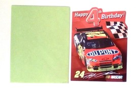 American Greetings Nascar Racing Birthday Card Jeff Gordon Happy 4th Bir... - $5.90