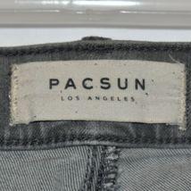 Pacsun Women's Gray Denim Distressed Raw Hem Ankle Jegging Pants Size 26 image 3
