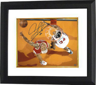 Primary image for Dennis Rodman signed Chicago Bulls 16X20 Photo Custom Framed w/ Charles Oakley (