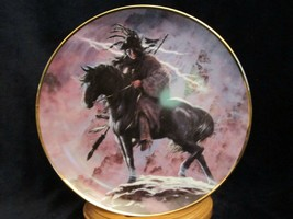 Spirit Of The Storm Collector Plate Hermon Adams Native Horse Western Heritage - $9.99