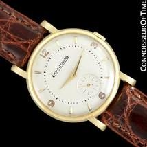 1947 JAEGER-LECOULTRE Vintage Mens Classic 18K Gold Watch - Warranty - $1,759.10