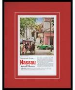 1959 Nassau Bahama Islands Tourism Framed 11x14 ORIGINAL Vintage Adverti... - $46.39