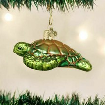OLD WORLD CHRISTMAS BLUE CRAB GLASS NAUTICAL COASTAL CHRISTMAS ORNAMENT ... - $10.88