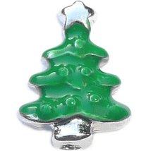 Christmas Tree Floating Locket Charm - $2.42