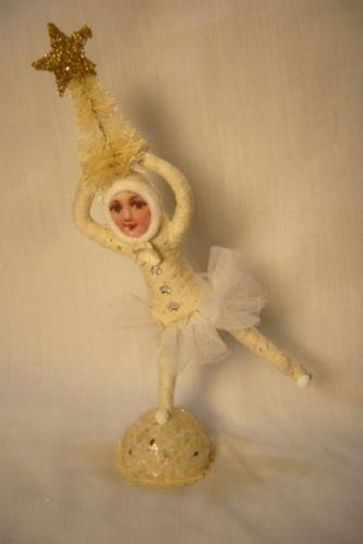Vintage Inspired Spun Cotton, Christmas Ballerina