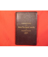 1897 Connecticut Rules of General Assembly, Handbook. - $49.99