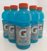 Gatorade Thirst Quencher Cool Blue 20fl Oz Bottles-Lot of 5 - $8.90