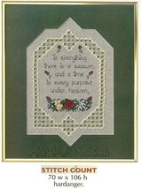 THERE IS A SEASON  - CROSS STITCH PATTERN ONLY  HM SYR - $5.40
