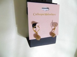 "Catherine Malandrino 1"" Gold Tone Dangle Drop Earrings E1002 $20 - $10.55"