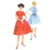 50s Vintage Simplicity Sewing Pattern 2913 Junior Fit Flared Shirtwaist ... - $8.95