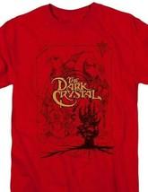 The Dark Crystal T Shirt retro 1980s fantasy movie Jim Henson red tee DKC123 image 2