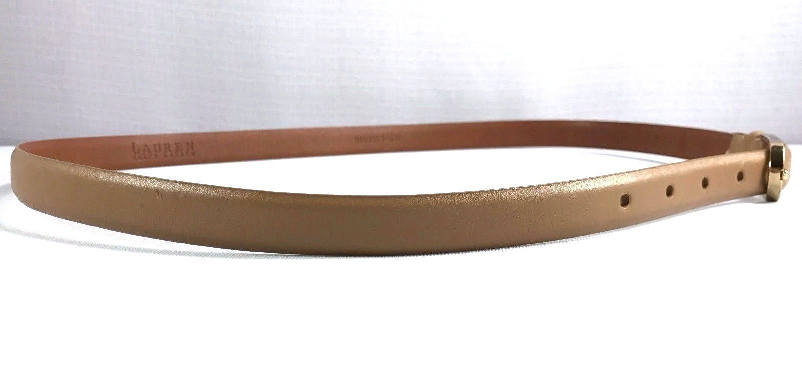 Ralph Lauren Belt Womens Size XL Tan Leather
