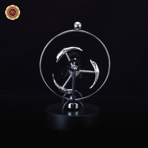 Gift Ideas Kinetic Motion/office Desk Toy Triangle Wheel Metal Perpetual... - $17.10