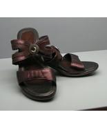 NAOT Woman's Heels Sandals SHOES 35 5.5 Bronze Brown Leather Gem Accent ... - $28.70