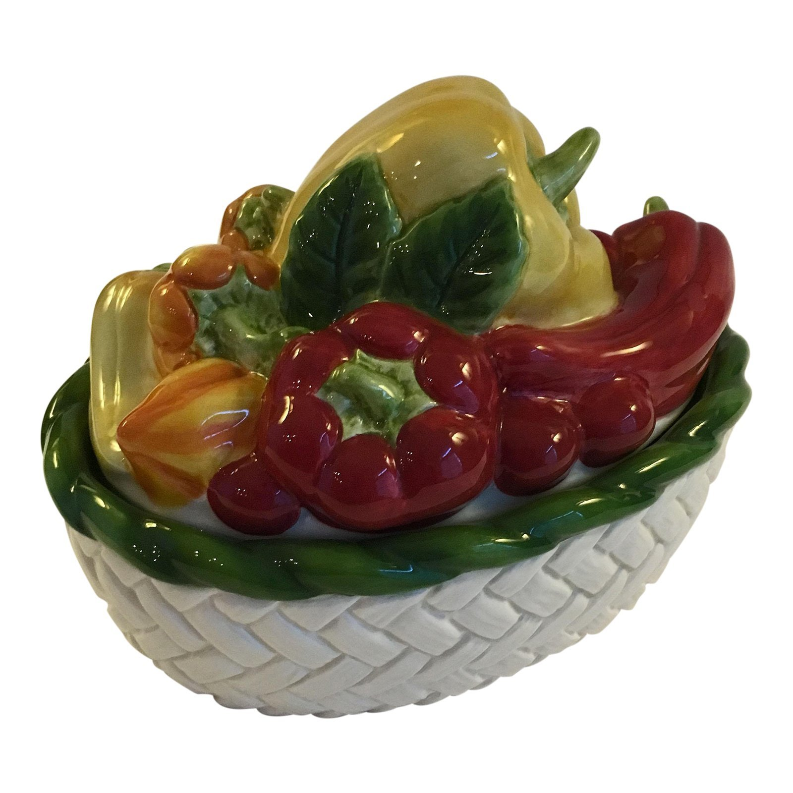 Mid 20th Century Fitz and Floyd Vegetable Motif Covered Dish - $59.00