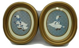 Burwood Homco Geese Framed Pictures 1988 - Pair - $19.80