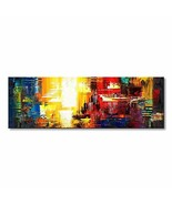 Hand Painted Abstract Canvas Wall Art Modern Decor Picture Acrylic Paint... - $90.72