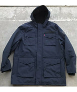 Levi's Sherpa Lined Hooded Parka Fleece Lined Coat Size 2XL Navy Blue - $64.35