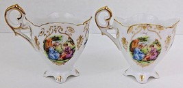 Ucagco China Tea Cups - Occupied Japan - Floral Pattern W/Gold Trim - 2 ... - $19.99