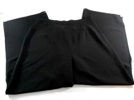 "R&M Richards Black Wide Leg Dress Pants Womens Size 18 Slit at Leg 30"" I... - $9.89"