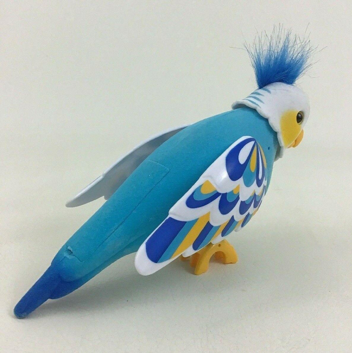 Cleverkeet Little Live Pets Talking Interactive Robot Bird Toy with Batteries