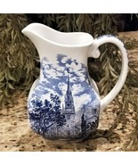 Vintage STAFFORDSHIRE Liberty Blue Serving Pitcher Old North Church - $69.95