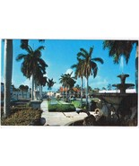 Florida Postcard Palm Beach Memorial Fountain South Country Road - $2.84