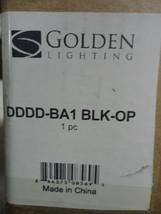 Maddox 1-Light Matte Black Vanity Light by Golden Lighting - $47.03