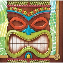Tiki Time 16 Ct Beverage Napkins Summer Pool Party Luau - $3.99