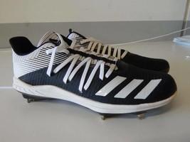 Adidas Men's Sport Cleat  Shoes, Size 10.5 White & Black  - $38.69