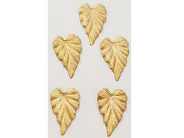 Large Leaf Charms, Set of 5
