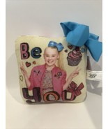 "2018 Jojo Siwa Be You! Pillow and Blue Bow - New Nickelodeon 8"" X 8"" A15AE - $13.95"