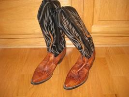 Dan Post women's cowboy lizard skin boots, size 8 M - $56.10