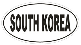 South Korea Oval Bumper Sticker or Helmet Sticker D2186 Euro Oval Country Code - $1.39+