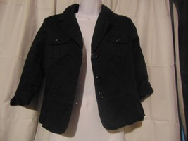 Merona Jacket Size S Black Women's Button Up - $24.75