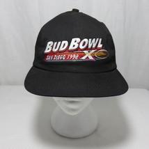 Bud Bowl San Diego 1998 NFL Flat Brim Black Hat Baseball Cap - $39.55