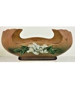 Marked GARDENIA Roseville Pottery USA circa 1950 630-12 Console Bowl Tan... - $59.99