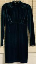 Forever 21 Hunter Green Dress Long Sleeve Stretchable Womens Size Medium... - $29.90