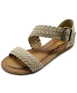 Ollio Womens Shoe Braided Side Buckle Accent Multi Color Flat Sandal M19... - $28.62