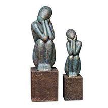 Uttermost 2-Pc Figurine Sculptures in Blue - $301.40