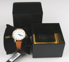 Ted Baker London TE50013007 Tan Genuine Leather Band & Rose-Gold-Tone Watch NWT image 6