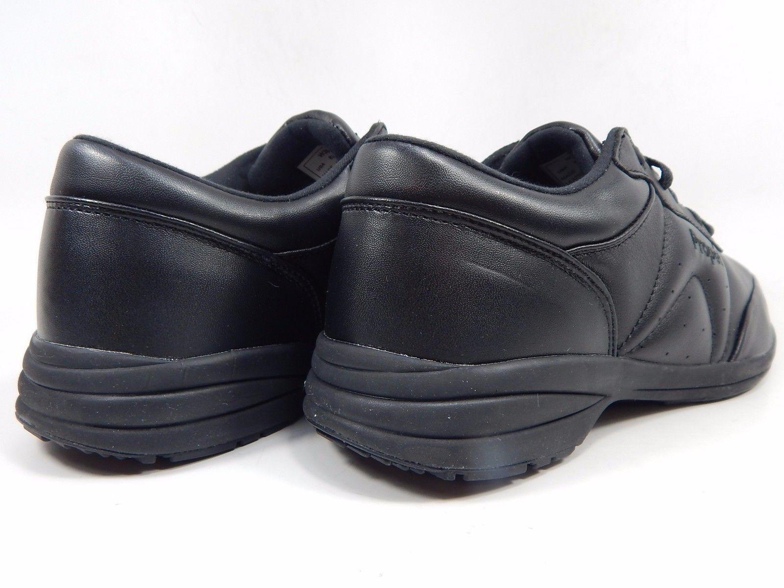 Propet Washable Walker Women's Leather Walking Shoes Size 8 D (W) WIDE Black