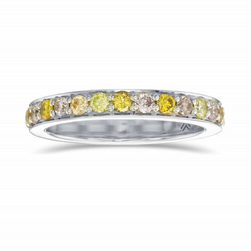 Primary image for 0.47Cts Engagement Band  Ring Set in 18K  White Gold