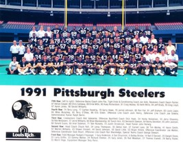 1991 PITTSBURGH STEELERS 8X10 TEAM PHOTO NFL FOOTBALL PICTURE - $3.95