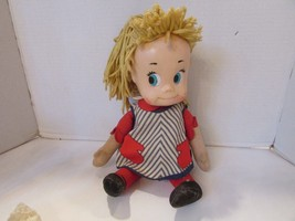 """VTG 1960'S SISTER BELLE DOLL PULL STRING SOFT AND RUBBER NEEDS REPAIR 17"""" - $6.95"""