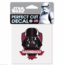 "Arkansas Razorbacks Star Wars Darth Vader 4"" x 4"" Perfect Cut Color Decal - $2.95"